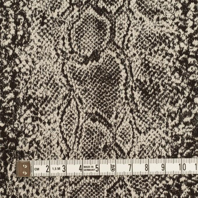 コットン&ナイロン混×パイソン(ダークブラウン&エクリュ)×ジャガード・ストレッチ イメージ4