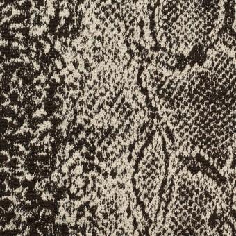 コットン&ナイロン混×パイソン(ダークブラウン&エクリュ)×ジャガード・ストレッチ