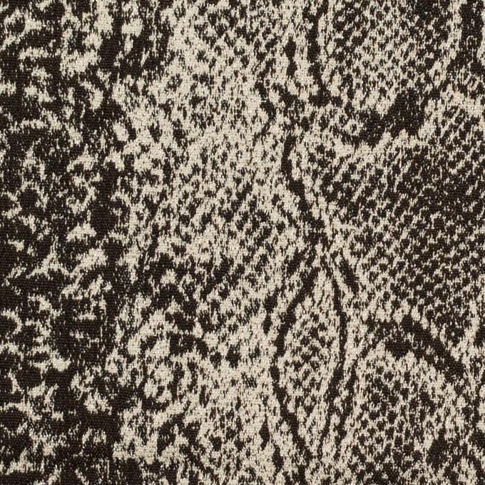 コットン&ナイロン混×パイソン(ダークブラウン&エクリュ)×ジャガード・ストレッチ イメージ1