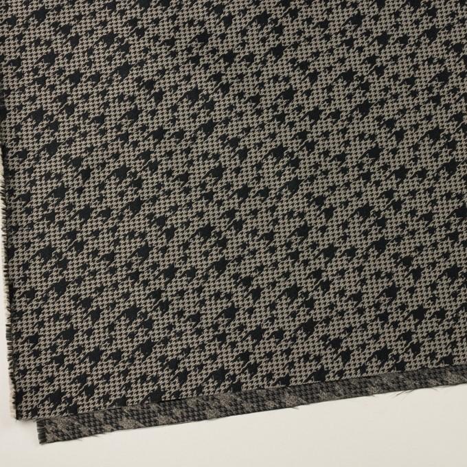 ポリエステル×千鳥格子(ブラック&グレイッシュベージュ)×ジャガード イメージ2