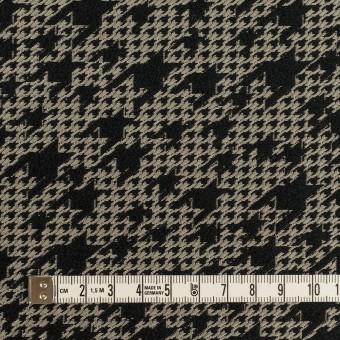 ポリエステル×千鳥格子(ブラック&グレイッシュベージュ)×ジャガード サムネイル4