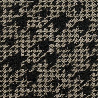 ポリエステル×千鳥格子(ブラック&グレイッシュベージュ)×ジャガード