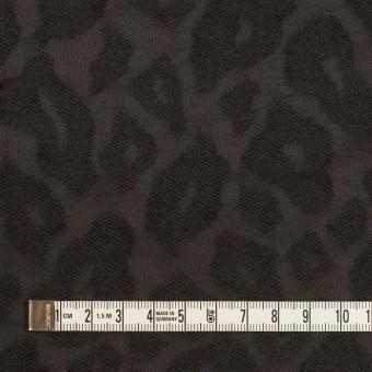 ウール&ナイロン×レオパード(チャコール)×ジャガード サムネイル4