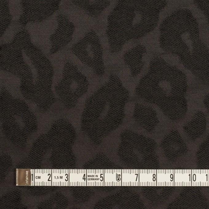 ウール&ナイロン×レオパード(チャコール)×ジャガード イメージ4