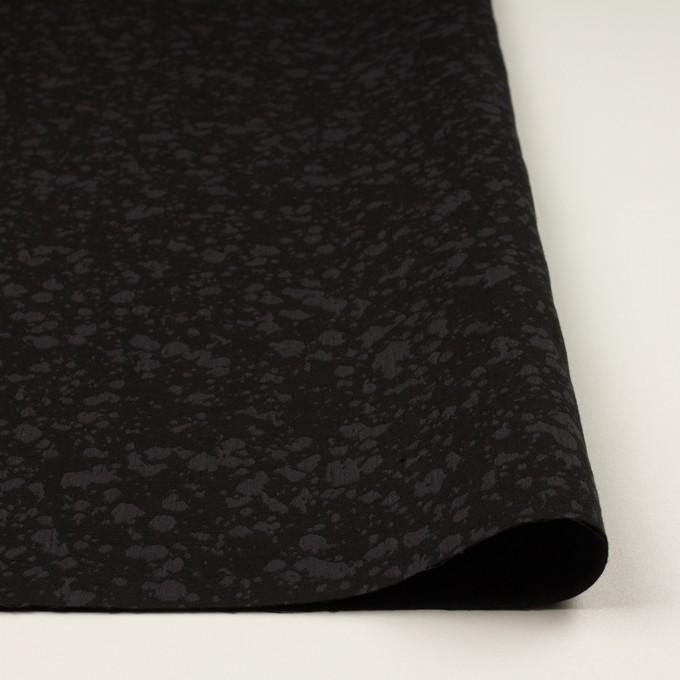 コットン×幾何学模様(チャコールブラック)×二重織ジャガード イメージ3