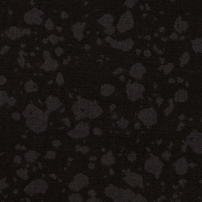 コットン×幾何学模様(チャコールブラック)×二重織ジャガード イメージ1
