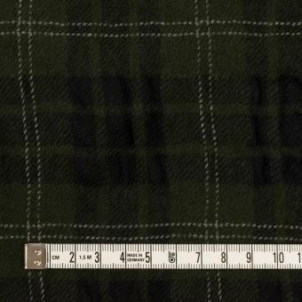 ウール×チェック(カーキグリーン&ブラック)×ガーゼ サムネイル4