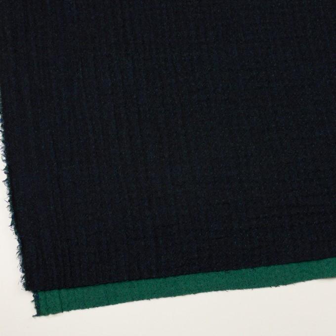 ウール×ミックス(ダークネイビー、マリンブルー&グリーン)×トリプルガーゼ イメージ2