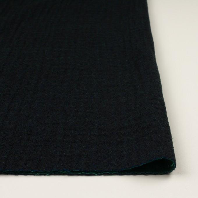 ウール×ミックス(ダークネイビー、マリンブルー&グリーン)×トリプルガーゼ イメージ3