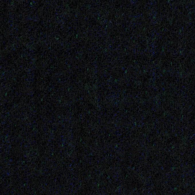 ウール×ミックス(ダークネイビー、マリンブルー&グリーン)×トリプルガーゼ イメージ1