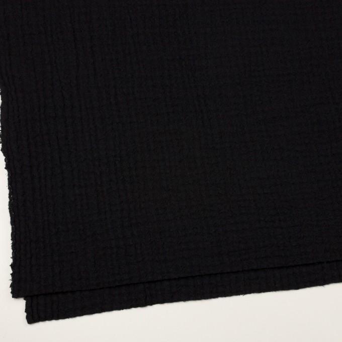 ウール×無地(ブラック)×Wガーゼ イメージ2