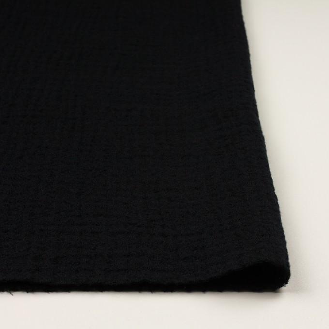 ウール×無地(ブラック)×Wガーゼ イメージ3