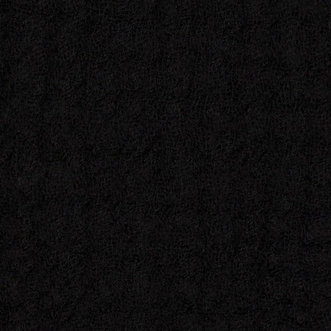 ウール×無地(ブラック)×Wガーゼ イメージ1