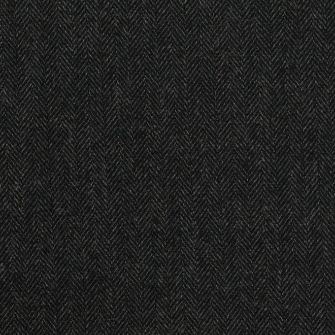コットン×ミックス(チャコール)×ヘリンボーン_全2色 イメージ1