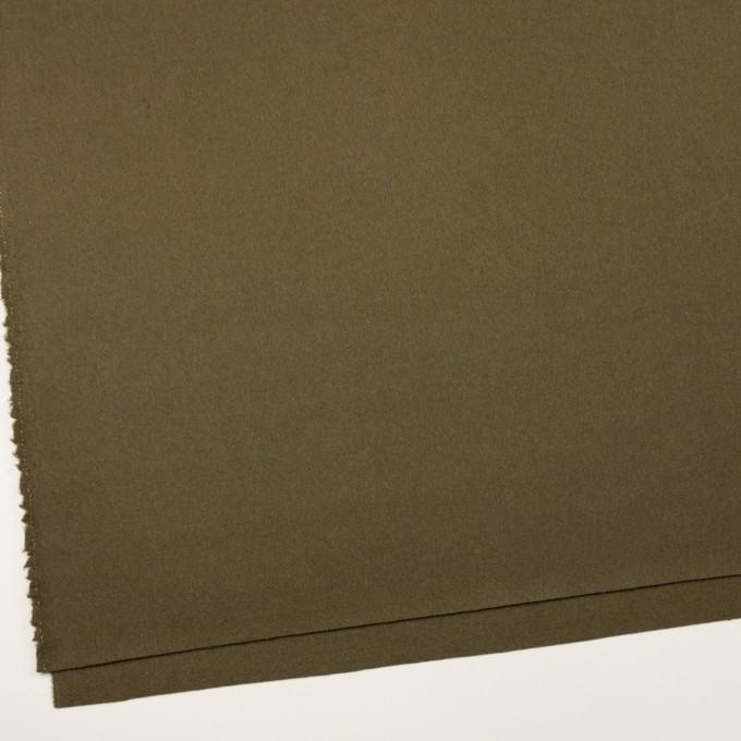 ウール×無地(ダークカーキ)×二重織 イメージ2