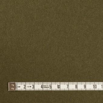 ウール×無地(ダークカーキ)×二重織 サムネイル4
