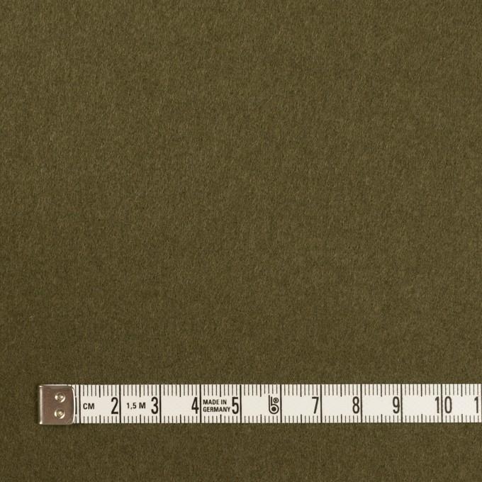ウール×無地(ダークカーキ)×二重織 イメージ4