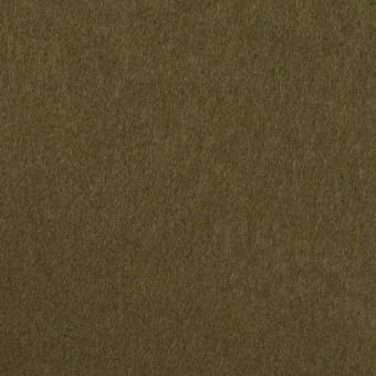 ウール×無地(ダークカーキ)×二重織
