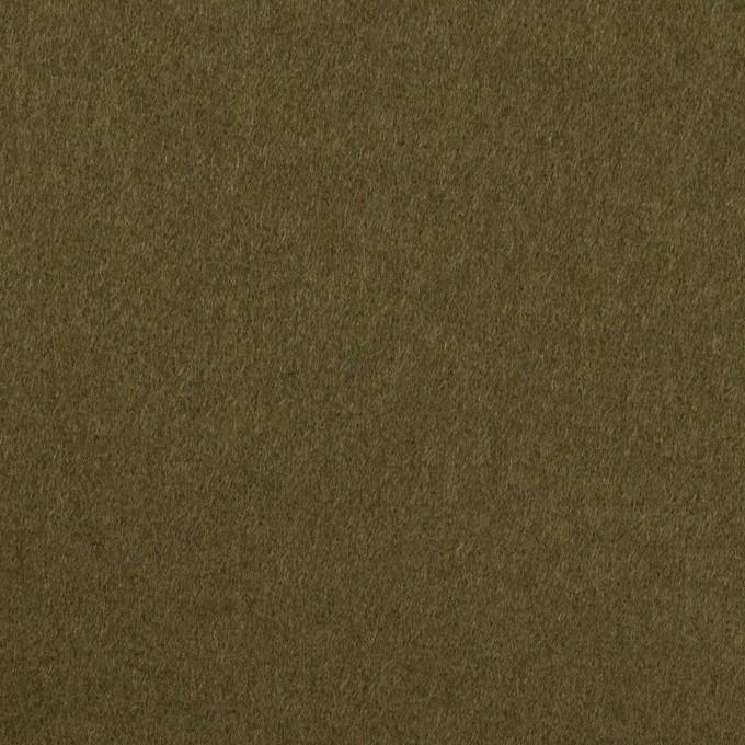 ウール×無地(ダークカーキ)×二重織 イメージ1