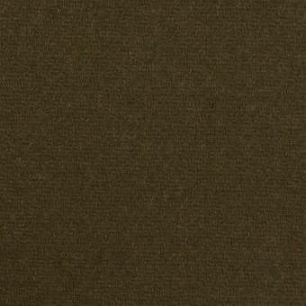 ウール×無地(ダークオリーブ)×Wフェイス・フラノ サムネイル1