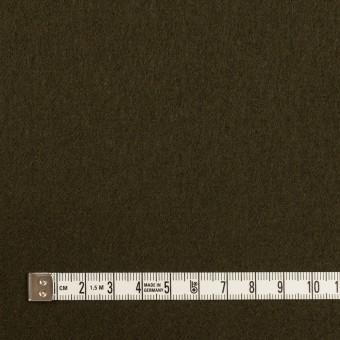 ウール×無地(ダークオリーブ)×フラノ(フランネル) サムネイル4