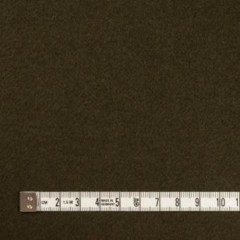 ウール×無地(ダークオリーブ)×ビーバー サムネイル4