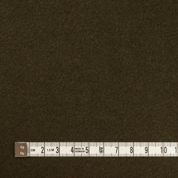 ウール×無地(ダークオリーブ)×ビーバー イメージ4