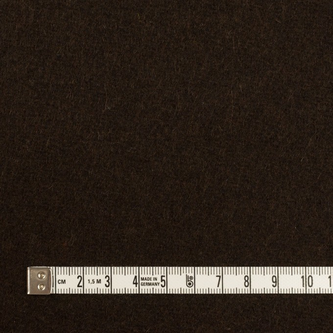 ウール×無地(ブラウニー)×メルトン イメージ4