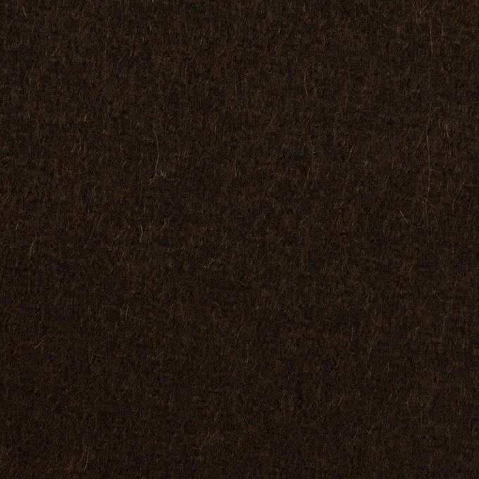 ウール×無地(ブラウニー)×メルトン イメージ1