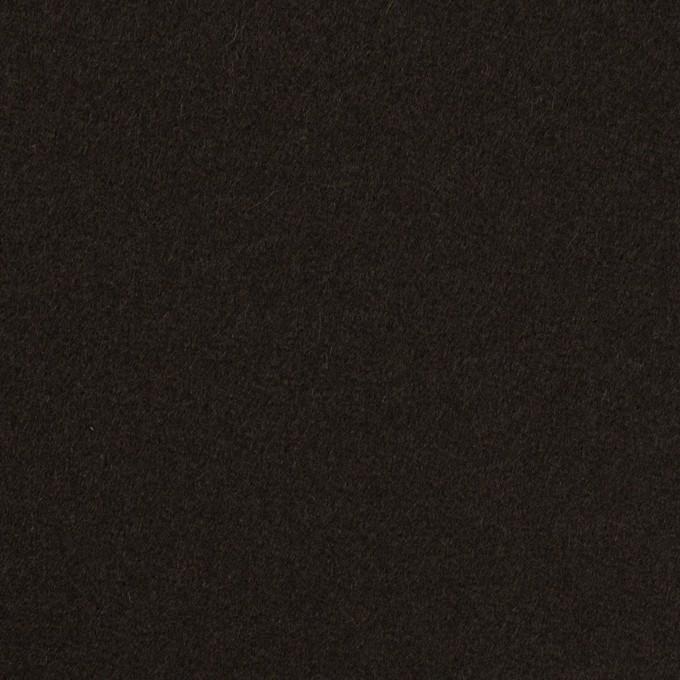 ウール×無地(ビターチョコレート)×Wフェイス・フラノ イメージ1