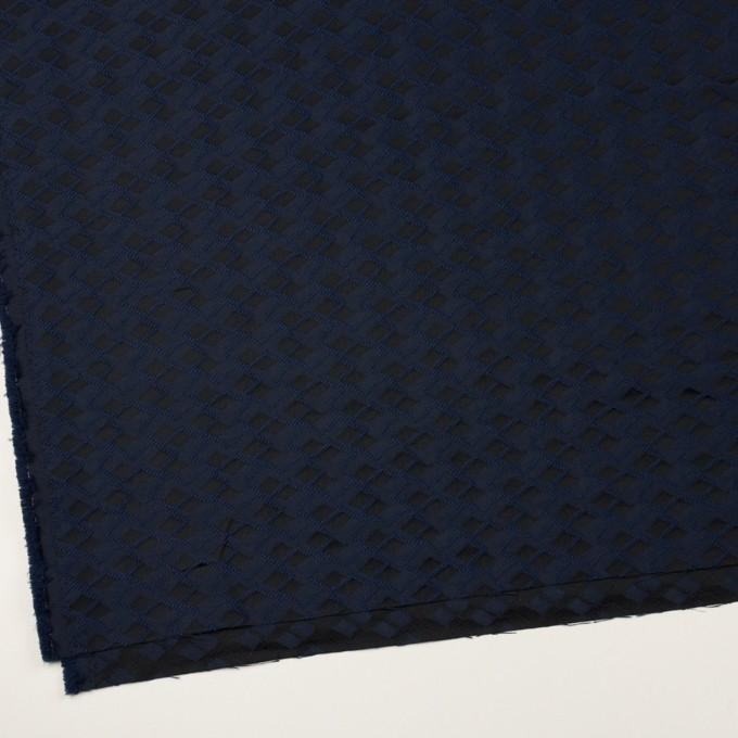 ポリエステル×ダイヤ(プルシアンブルー&チャコール)×サテンジャガード イメージ2