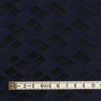 ポリエステル×ダイヤ(プルシアンブルー&チャコール)×サテンジャガード サムネイル4