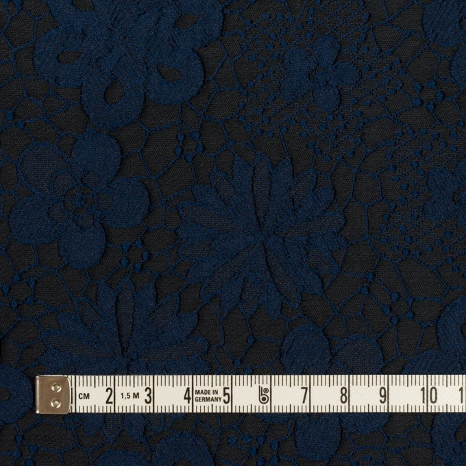 ポリエステル×フラワー(プルシアンブルー&チャコール)×ジャガード イメージ4