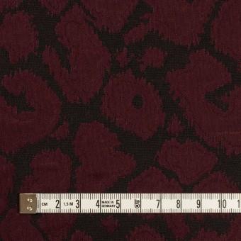 コットン&ポリエステル混×レオパード(バーガンディー&チャコール)×フクレジャガード・ストレッチ サムネイル4