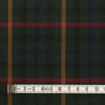 コットン×チェック(ダークグリーン、オーカー&レッド)×サージ サムネイル4