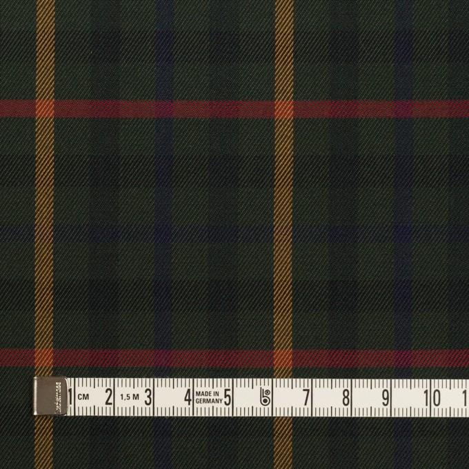 コットン×チェック(ダークグリーン、オーカー&レッド)×サージ イメージ4