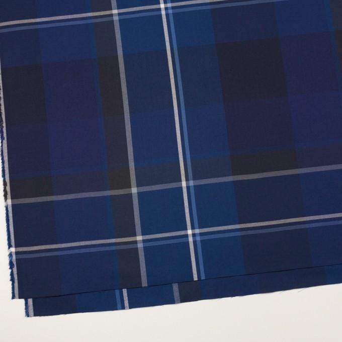 コットン×チェック(ブルー&ネイビー)×サージ イメージ2