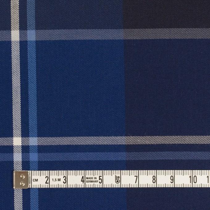 コットン×チェック(ブルー&ネイビー)×サージ イメージ4