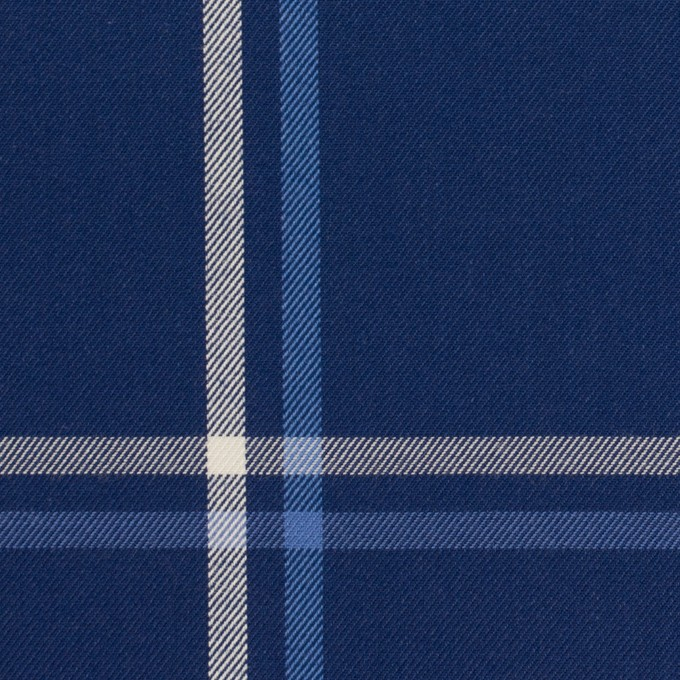 コットン×チェック(ブルー&ネイビー)×サージ イメージ1