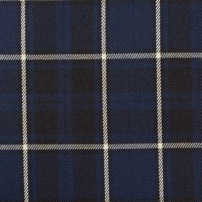 コットン×チェック(プルシアンブルー&チャコールブラック)×ビエラ イメージ1