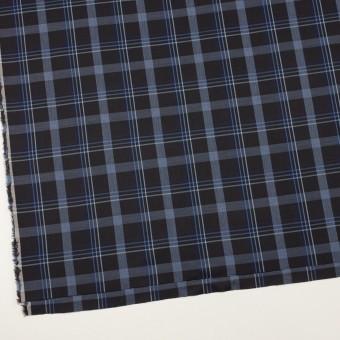 コットン×チェック(チャコールブラック&ブルー)×サージ サムネイル2