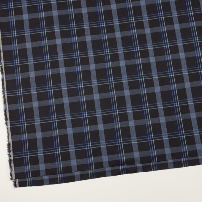 コットン×チェック(チャコールブラック&ブルー)×サージ イメージ2