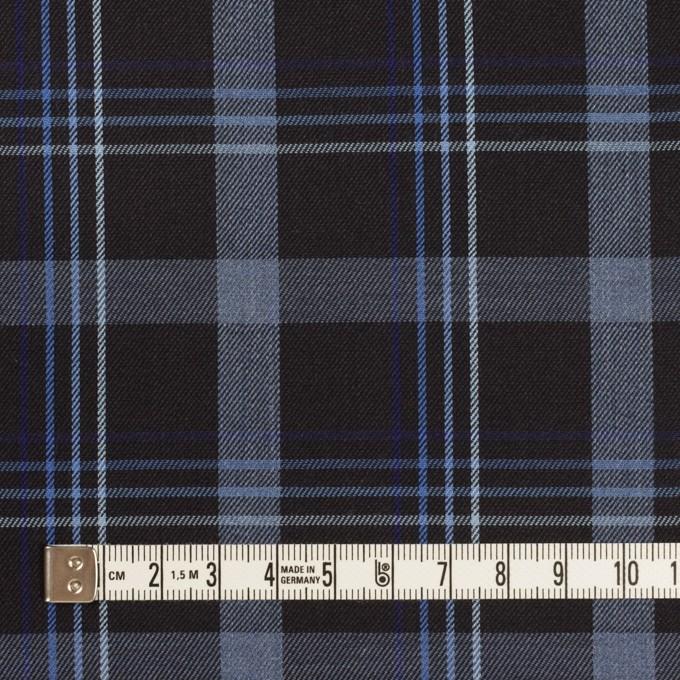 コットン×チェック(チャコールブラック&ブルー)×サージ イメージ4