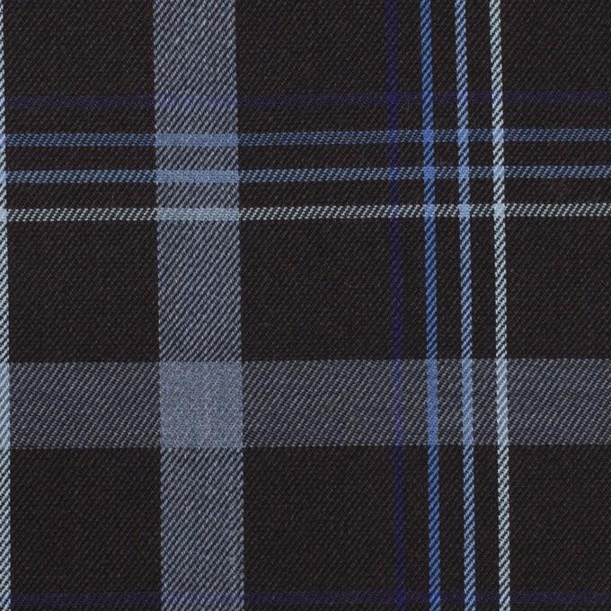 コットン×チェック(チャコールブラック&ブルー)×サージ イメージ1