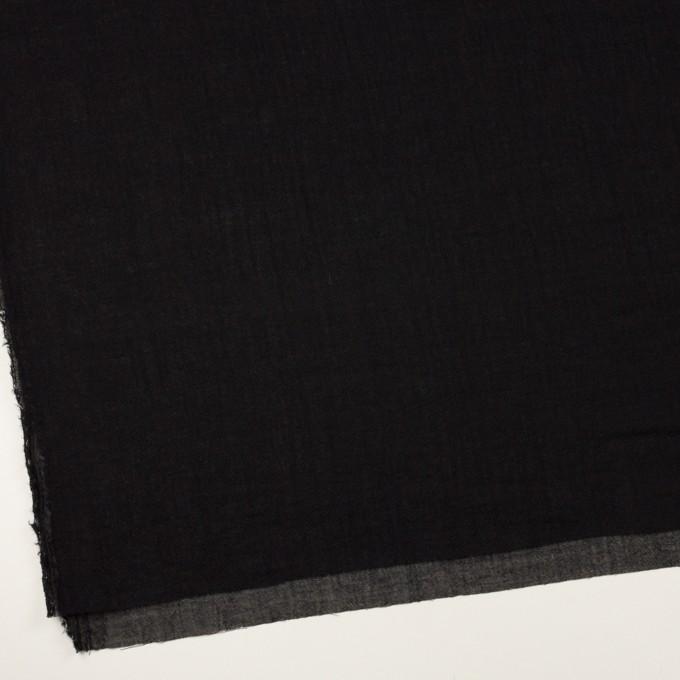 ウール&レーヨン混×無地(ブラック)×ガーゼ イメージ2