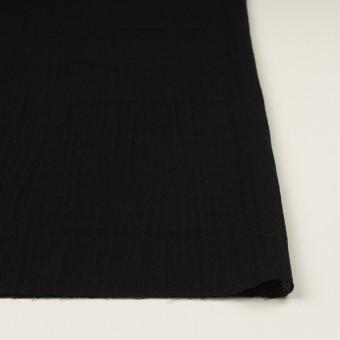 ウール&レーヨン混×無地(ブラック)×ガーゼ サムネイル3