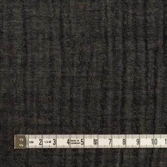 ウール&レーヨン混×無地(ブラック)×ガーゼ サムネイル4