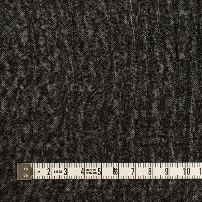 ウール&レーヨン混×無地(ブラック)×ガーゼ イメージ4