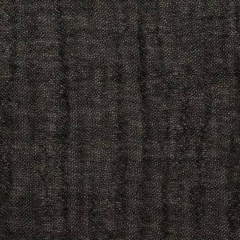 ウール&レーヨン混×無地(ブラック)×ガーゼ