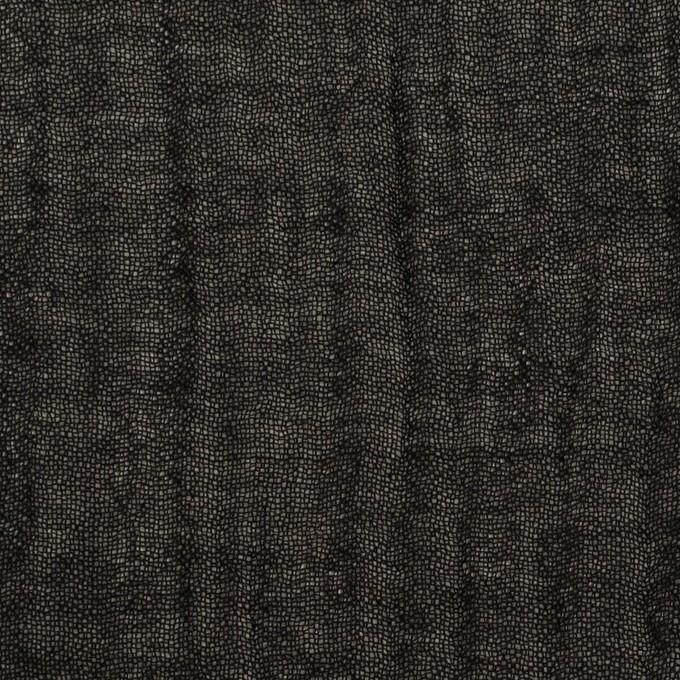 ウール&レーヨン混×無地(ブラック)×ガーゼ イメージ1